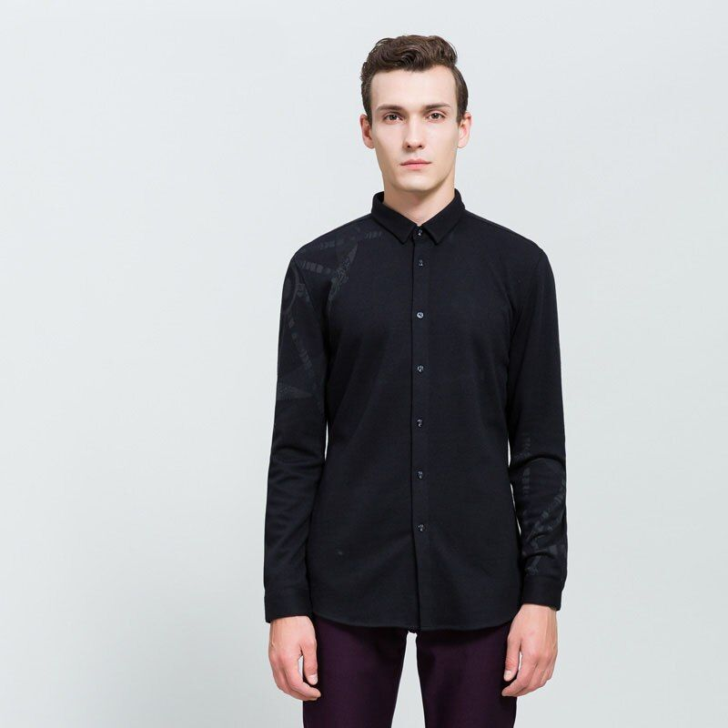 G005 весна осень особенности рубашки мужские повседневные джинсы новое поступление с длинным рукавом Повседневная Y17