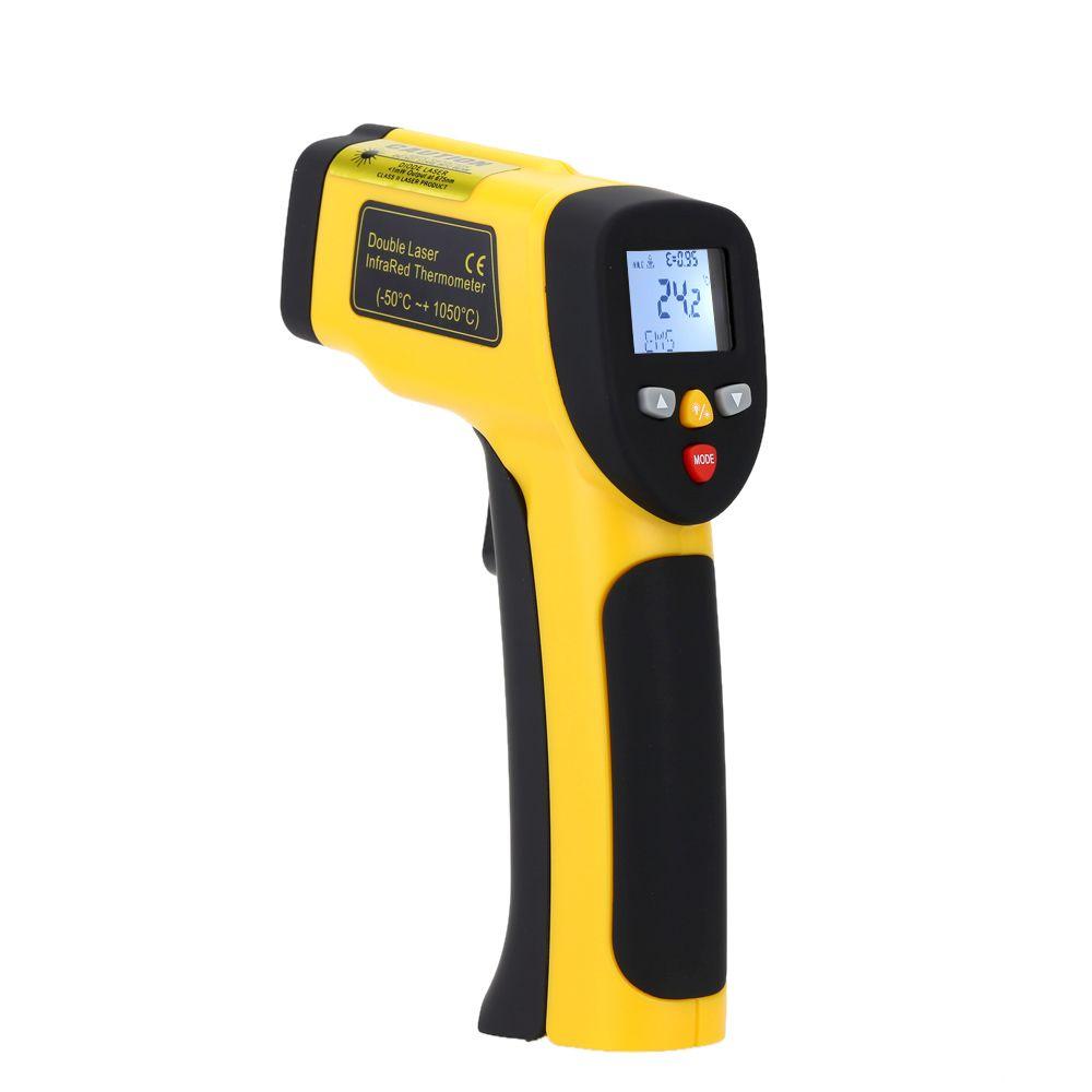Précision Numérique Infrarouge Thermomètre Double Laser Sans contact IR Pyromètre Température Testeur Diagnostic-tool-50 ~ 1050 Degrés