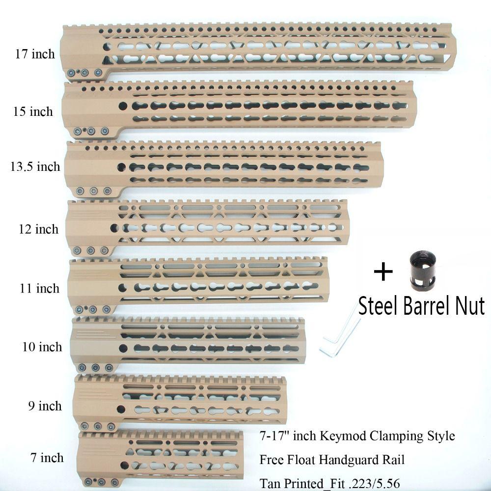 AR15 Ein Stück Freies Float Schiene Montage System Handschutz Halterung mit Abnehmbare Schienen Barrel Mutter Picatinny Schiene Abschnitt