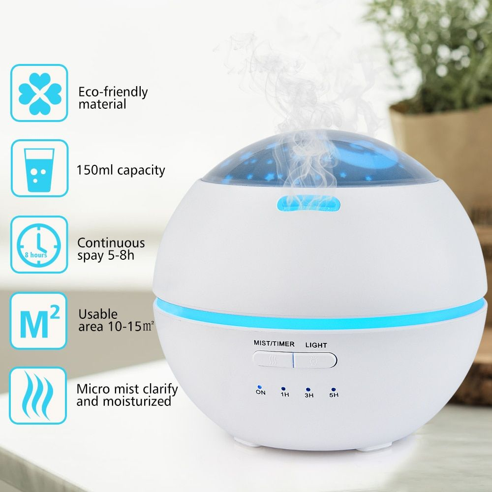 Auto Aromatherapy Diffuser Nature Aroma Therapy Diffuser Humidifier Air Purifier Yoga Bath Bedtime Aroma Relax Lamp Spa Supply