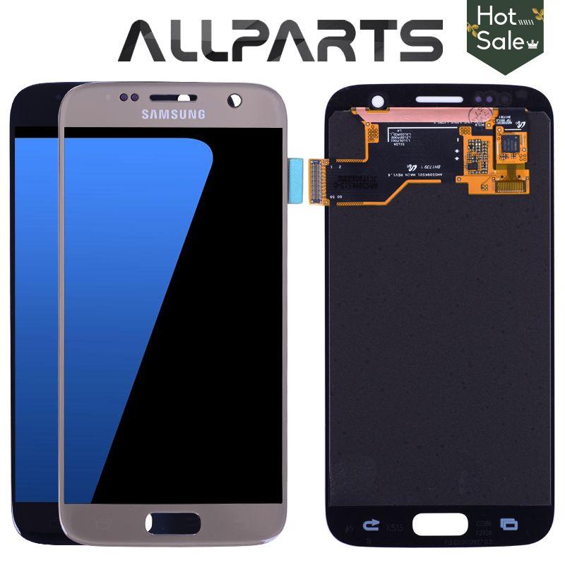 Original 5,1 ''Super AMOLED Bildschirm für SAMSUNG Galaxy S7 LCD Display G930 G930F SM-G930 Touchscreen Digitizer Ersatzteile