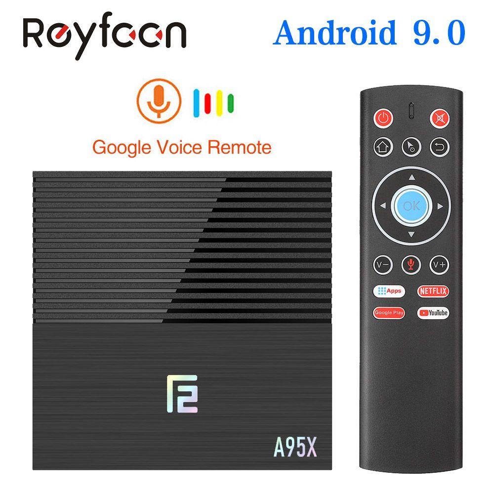 Android 9.0 Smart TV Box A95X F2 4GB 64GB Amlogic S905X2 Support Dual Wifi 1080p 4K 60fps Google Player Netflix Youtube Media 32