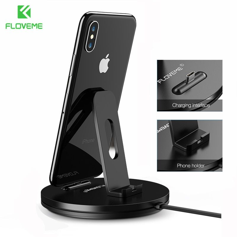 FLOVEME Phone Charger For Samsung S9 S9 Plus Charging Dock For Xiaomi Redmi 4X Huawei Stand Holder For Android Type-C charger