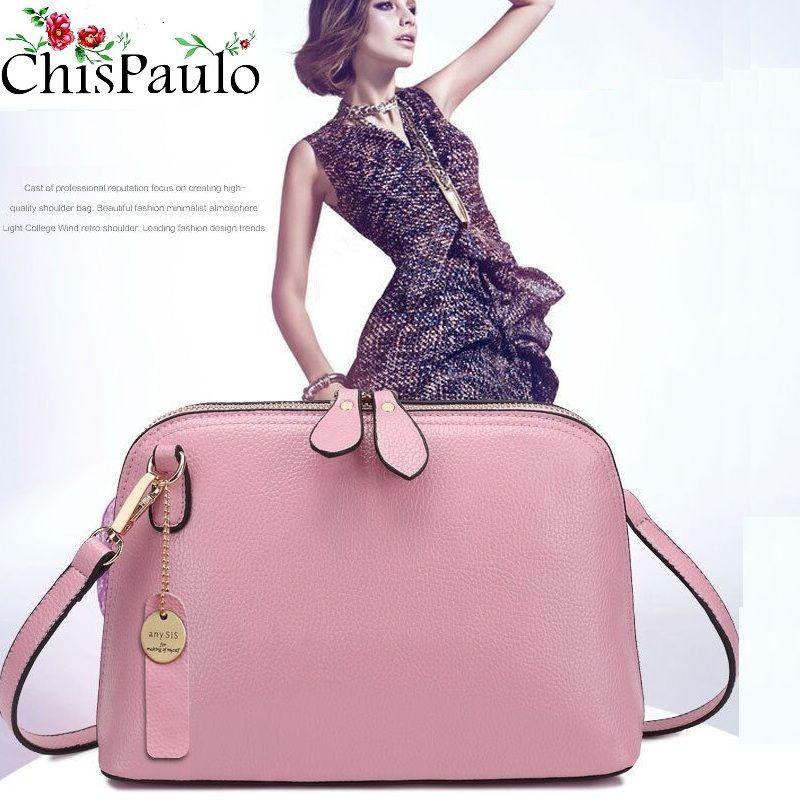 Marque de luxe sacs à main Designer décontracté femmes sacs à main en cuir véritable mode gland épaule sacs à bandoulière pour les femmes 2017X52