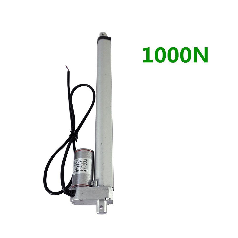 350mm Stroke Heavy duty DC 12V 1000N For Solar Tracking System mini linear actuator