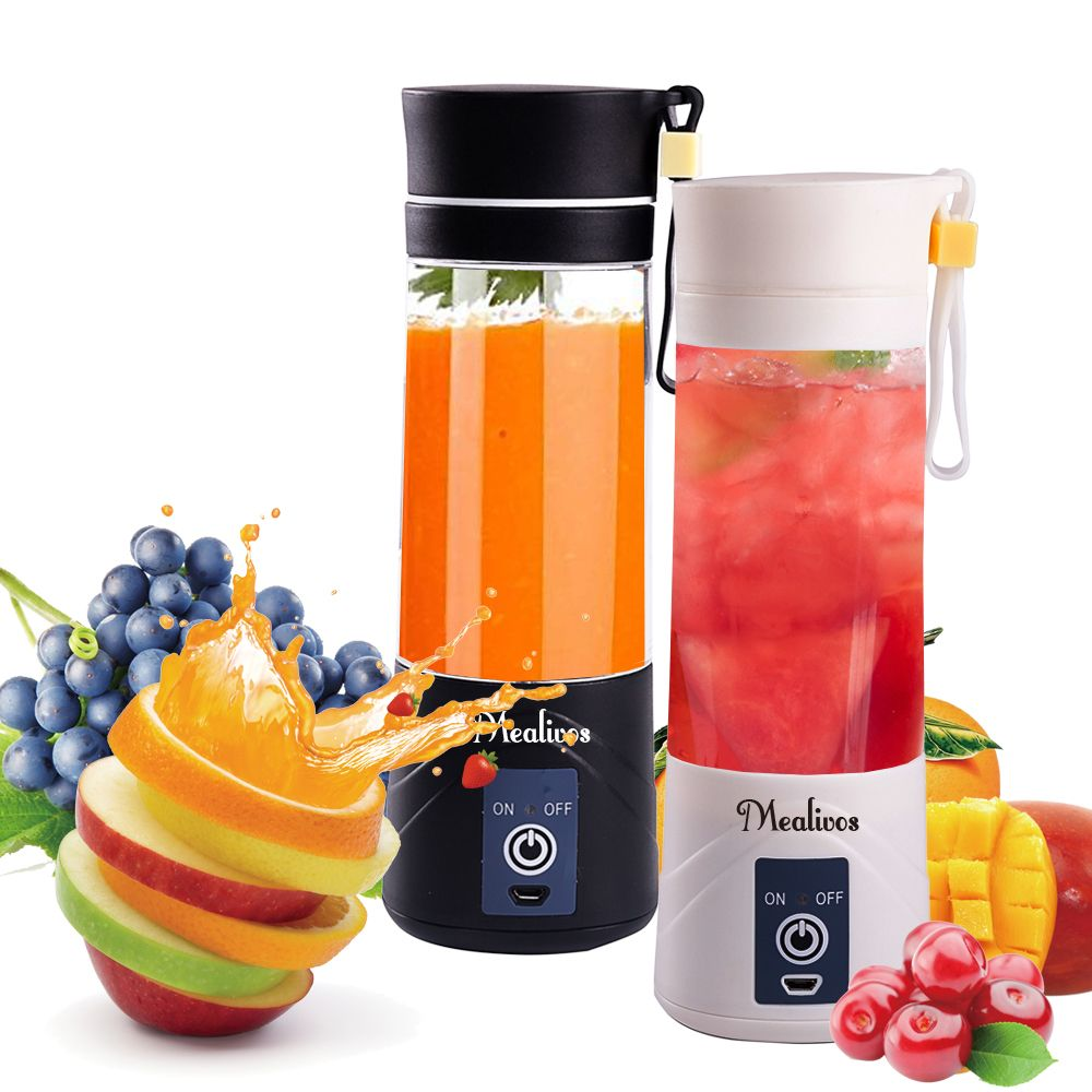 Mealivos Portable Blender USB Juicer Cup Juicer Machine with USB Charger Fruit Mixing Machine Personal Size Rechargeable Juice