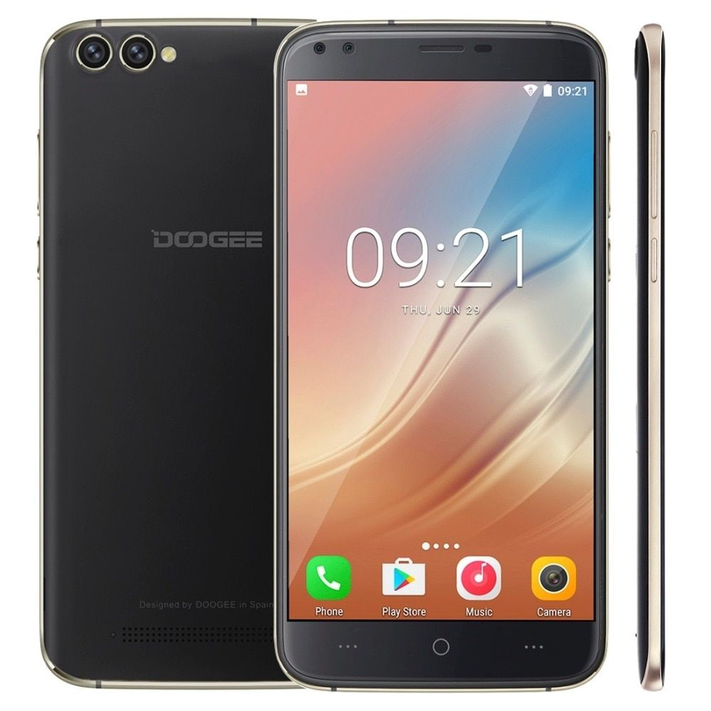 DOOGEE X30 ROM 16GB Mobile 2GB RAM 5.5'' Screen Android 7.0 Smartphone MT6580A Quad core 1.3GHz OTA Dual Rear Camera 3360mAh