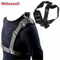 WILTEEXS Shoulder Strap Mount Harness for Hero5 4 3 sjcam sport cameras Xiaomi Yi 2 SJCAM SJ4000/SJ5000/SJ6000 Accessories