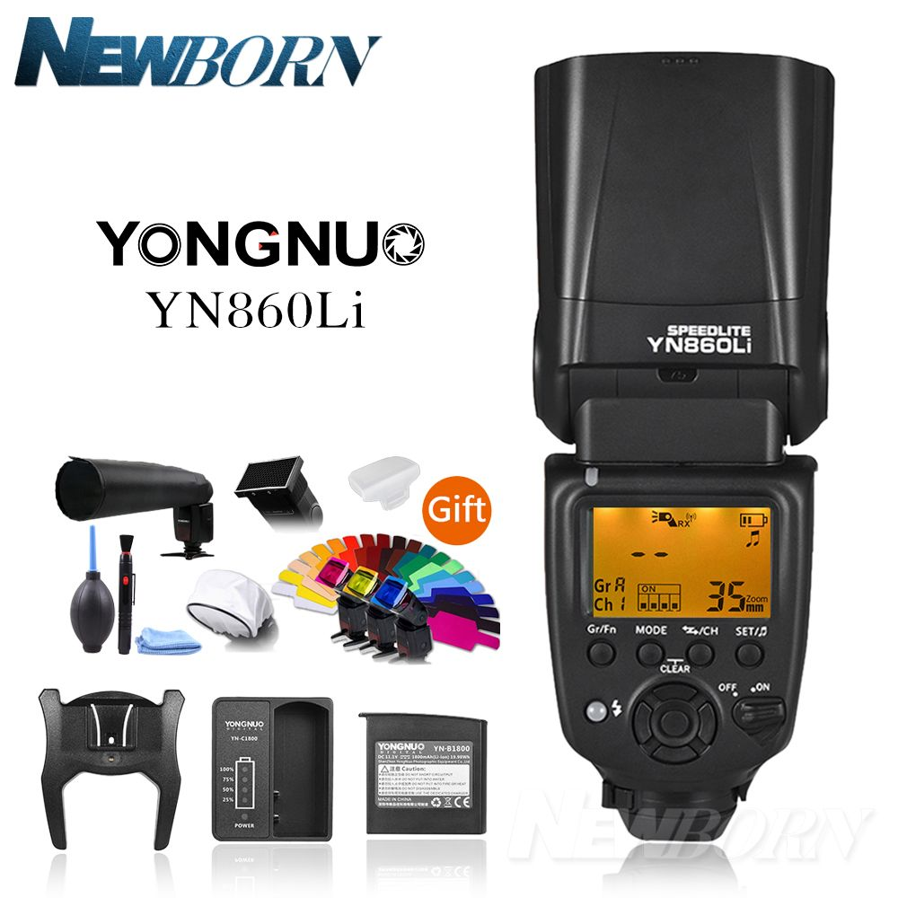 YONGNUO YN860Li Wireless Flash Speedlite+YN560-TX II Manual Flash Trigger Remote Controller for Canon 5D 6D 7D 550D 1100D 70D 1D