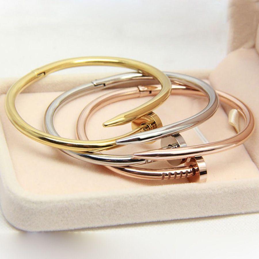 2017 Titanium Screw Nail Lover Bracelet for Women Bangle Lover Bracelet Jewelry Titanium Cuff Bracelet Bangle Pulseiras A0005