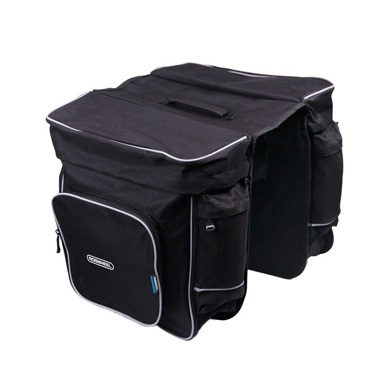 ROSWHEEL Bicycle Carrier Bag 30L Rear Rack Trunk Bike Luggage Back Seat Pannier Two Double Bags Outdoor Cycling Saddle Storage 1