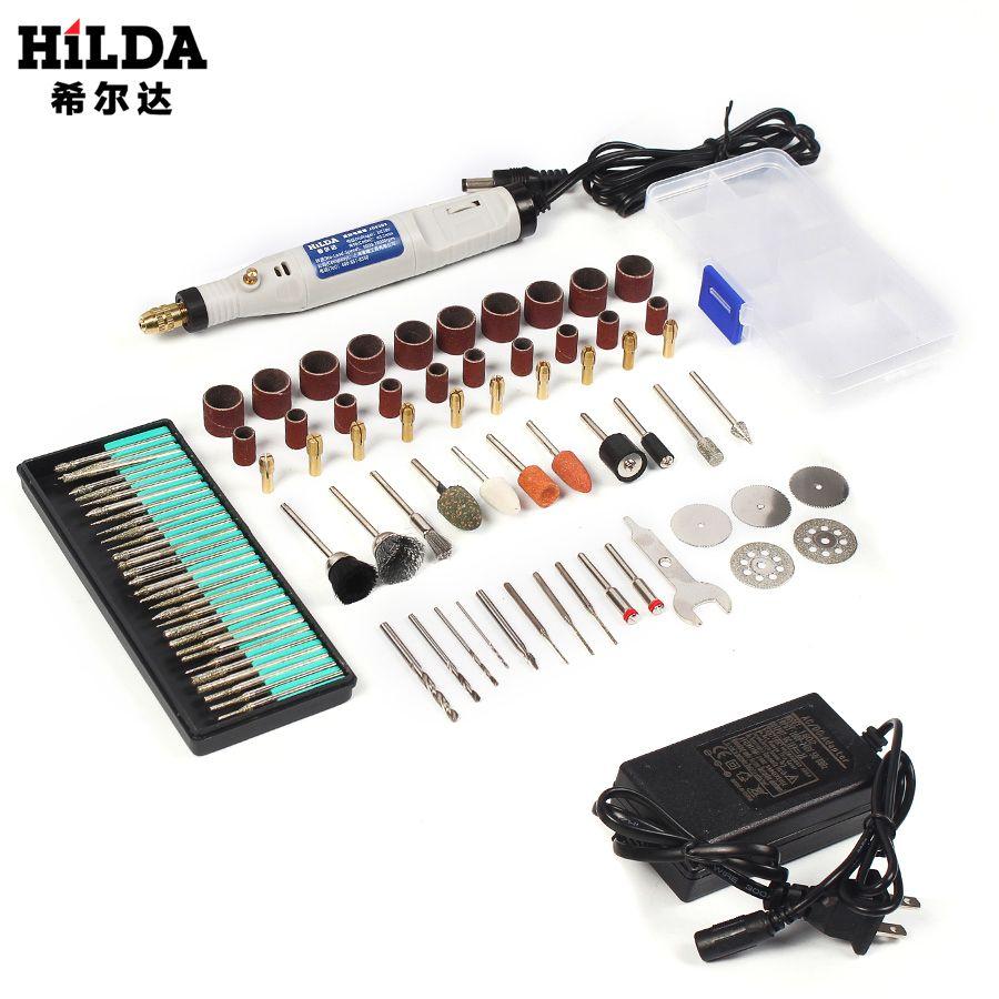 HILDA 18 V stylo de gravure Mini perceuse outil rotatif avec accessoires de meulage Set multifonction Mini stylo de gravure pour outils Dremel