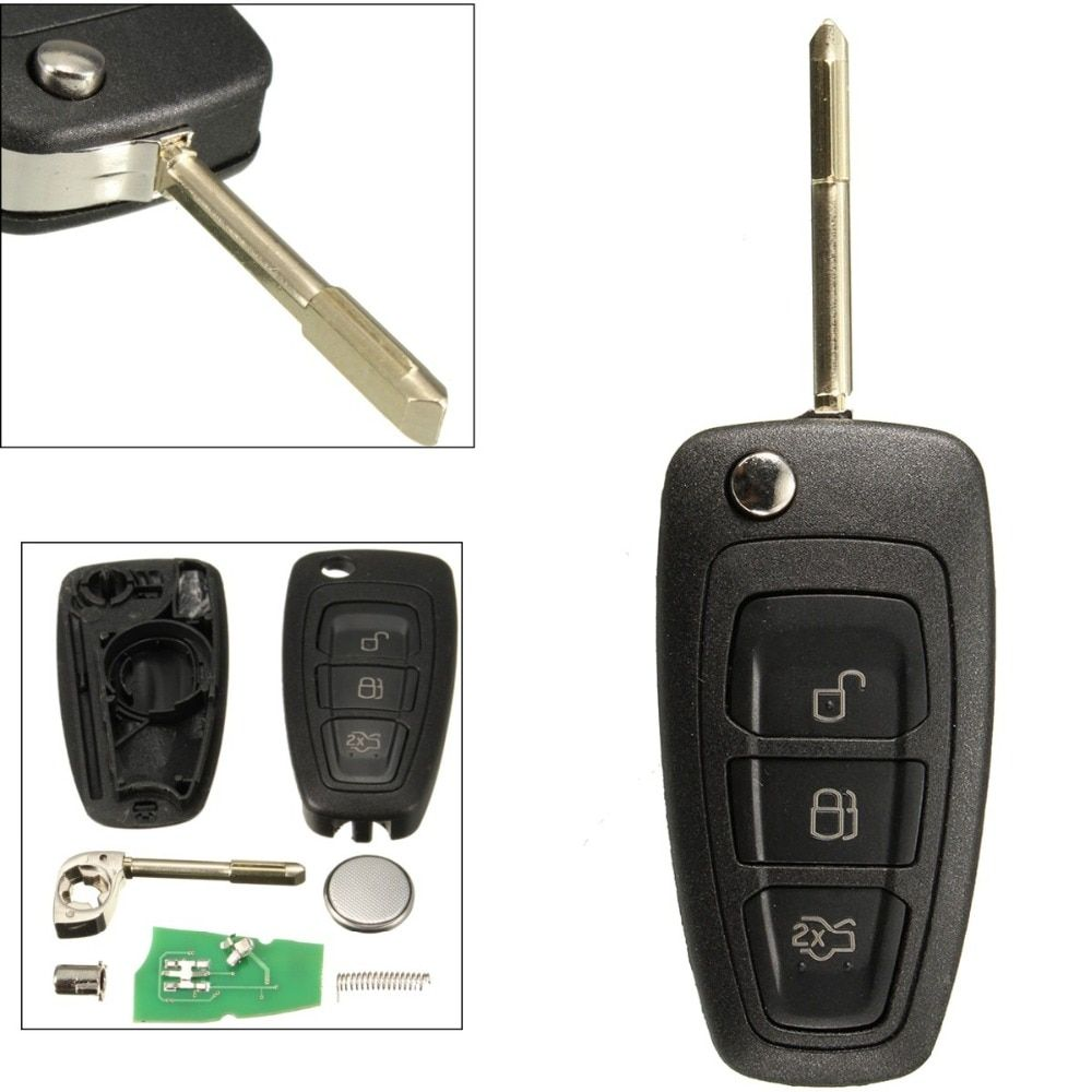 3 Buttons Flip Remote Key Fob With Chip 4D60 For Ford /Focus Mk1 /Mondeo /Transit/Connect 433Mhz