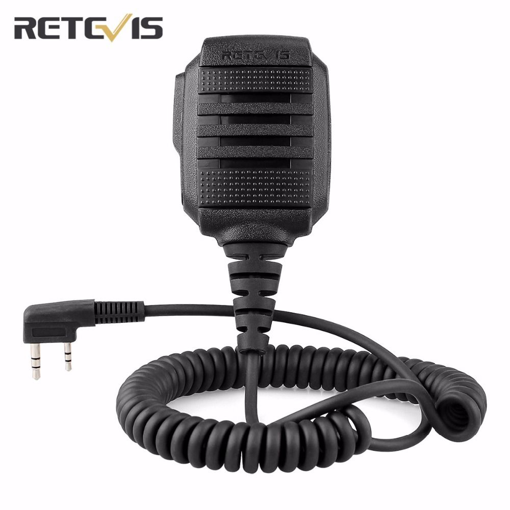 Retevis RS-114 IP54 Speaker Microphone 2 PIN For Retevis H777 RT21 RT27 For Kenwood Two Way Radio Accessories Black C9060A