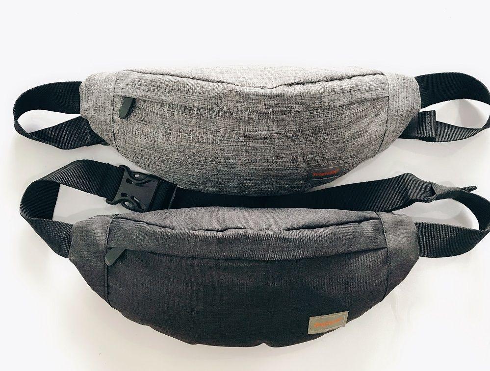 Imperméable à l'eau hommes décontracté fonctionnel Fanny pack taille sac argent téléphone ceinture pochette ceinture sac avec 3 sacs à fermeture éclair grande capacité