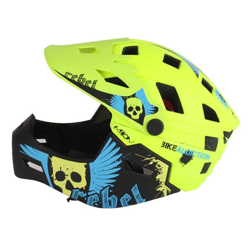 MOON Men Women Child Cycling Helmet High Quality Mouth Guard Mountain MTB DH Bicycle Helmet & Bike Helmet