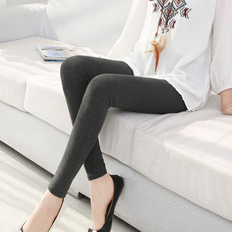 women solid color Jeggings s- 7xl women Modal cotton leggings long legging pants grey black white 6XL 5XL 4XL 3XL XXL XL L M S