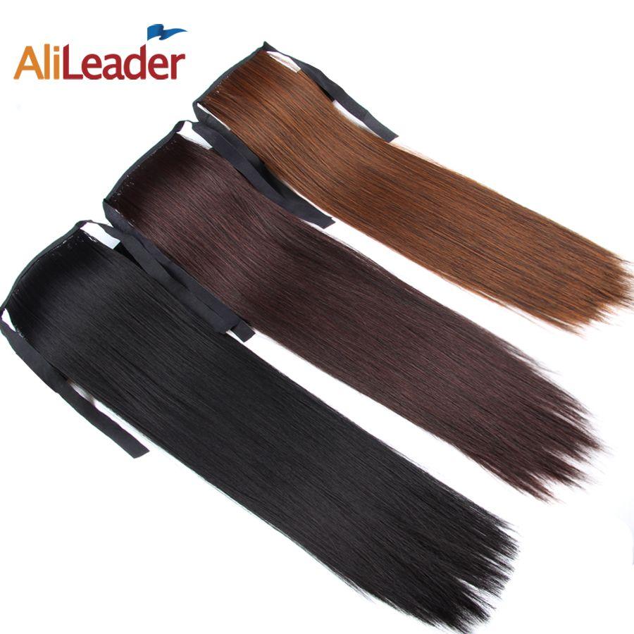 Alileader, искусственные волосы, коса, зажим, конский хвост, блонд, коричневые, белые, черные, конский хвост, для увеличения волос, искусственный к...