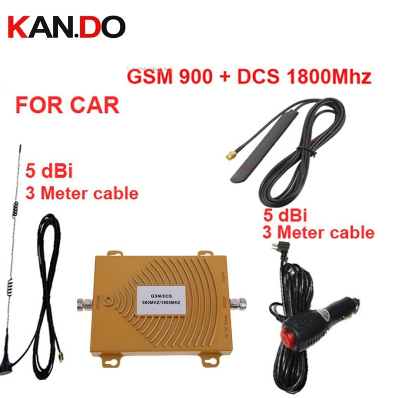 Auto booster dual band GSM900Mhz 1800 Mhz handy signal booster für auto, GSM DCS signal repeater fahrzeugnutzung signal booster