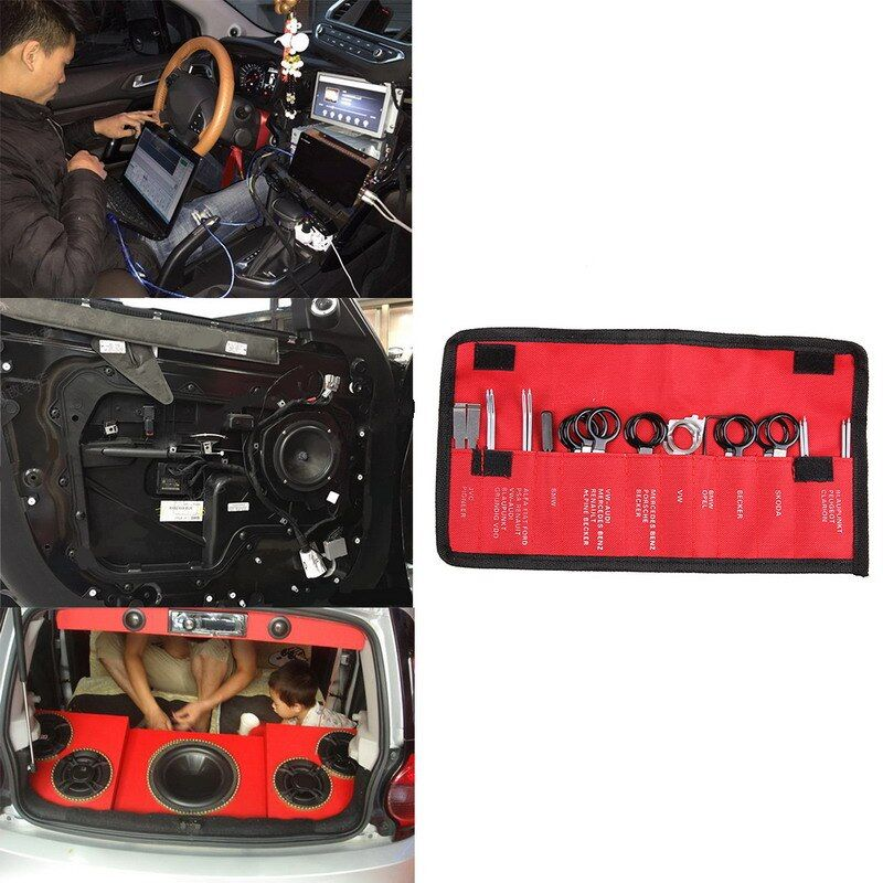 Vehicle Car Radio Door Panel Removal Realese Stereo Headunit Audio Keys Navigation Dash Trim Install Tools Kit