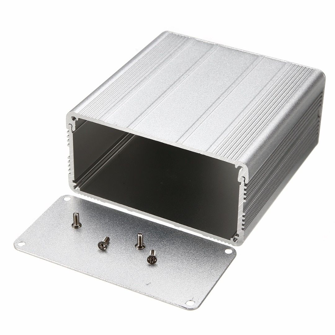 1pc Aluminum Enclosure Case Silver DIY Electronic Project PCB Instrument Box Mayitr 100x100x50mm
