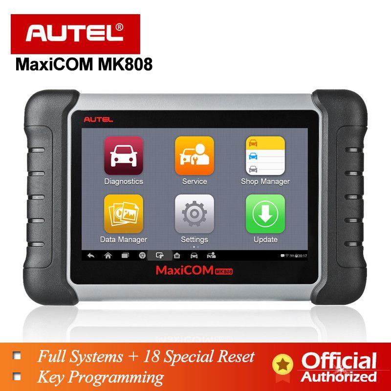 Autel MaxiCOM MK808 MX808 Automobil Diagnose-Tool Alle System Schlüssel Programmierung OBD2 II Scanner ABS SRS als MD802 + MaxiCheck pro