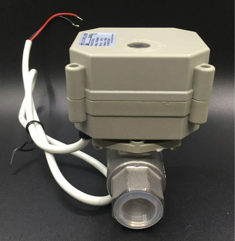 TFM15-S2-C, neue 2 Way SS304 1/2 ''DN15 Proportionalventil 0-5 V, 0-10 V oder 4-20mA DC9V-24V 5 Drähte Für Wasser Regelsteuer