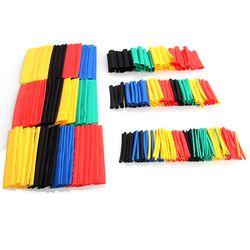 328/127 Pcs Assorties Polyoléfine Gaine Thermorétractable Tube Câble Manches Wrap Fil Ensemble 8 Taille Multicolore/Noir