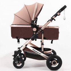 Cochecito de bebé de lujo 2 en 1 de cochecito paisaje portátil plegable Carro de bebé más barato cochecito de bebé caucho Natural cuatro rueda