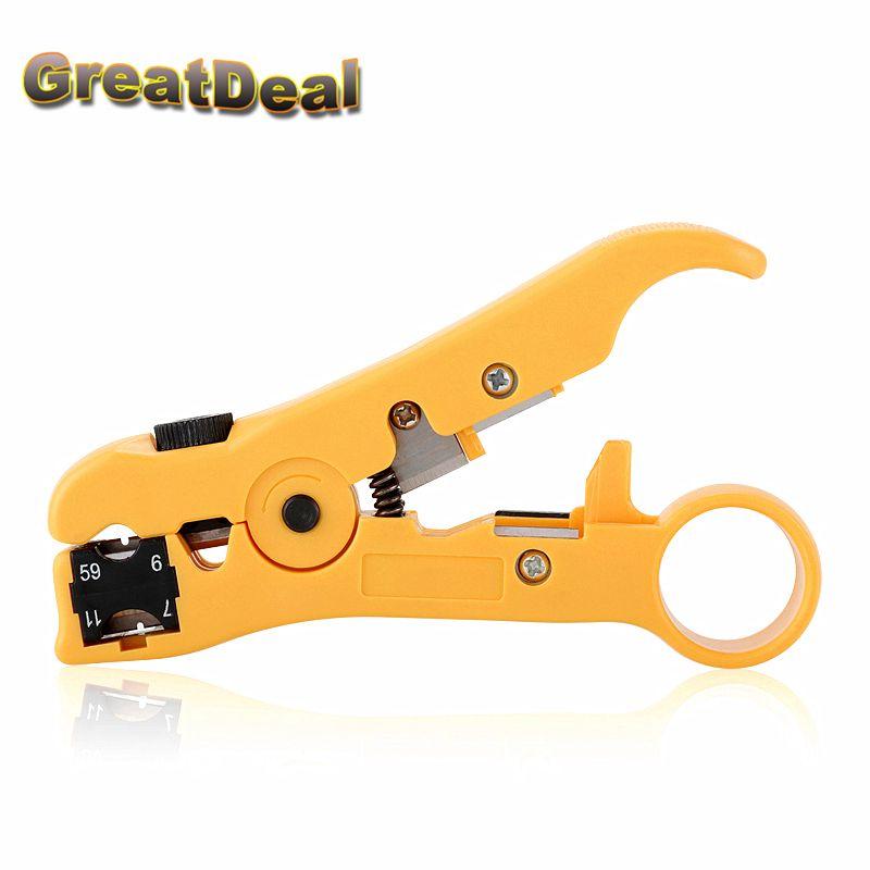 Rj45 ethernet Câble À Dénuder Électrique Décapage Outils rj45 cuting Pince à sertir Pinces pour UTP STP RG59 RG6 RG11 RG7 RJ45 HY1531
