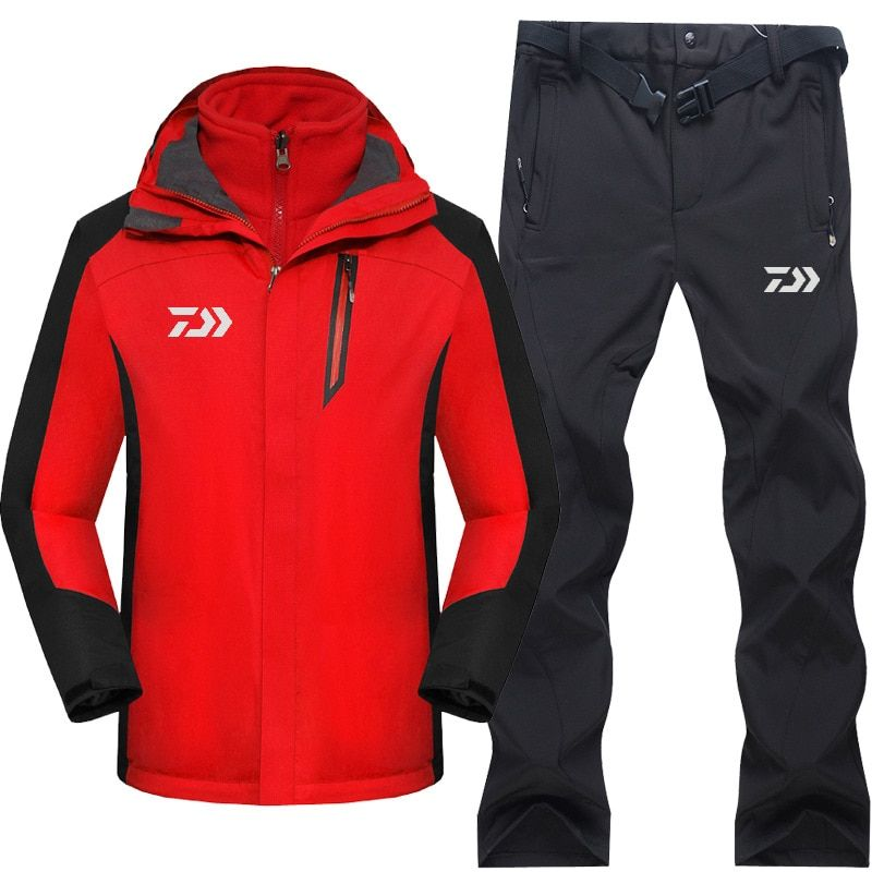2017 High Quality Fishing Clothing Sets Men Breathable Outdoor Sportswear Suit Winter Autumn Warm Fishing Shirt and Pants FS025