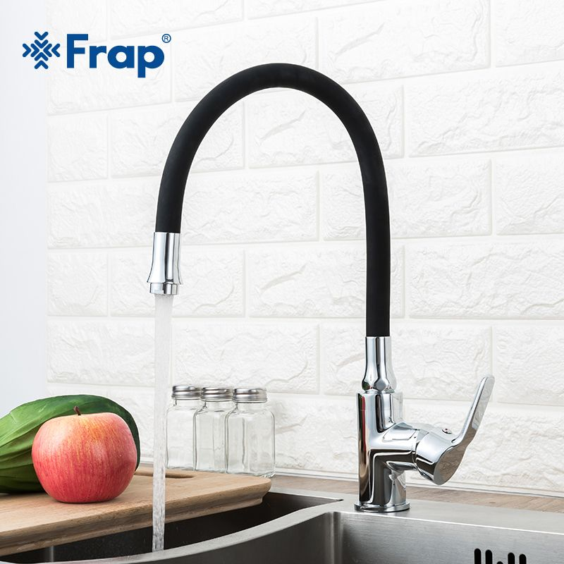 Frap new Kitchen sink Faucet with 6 colors Silica Gel Nose Cold and Hot Water Mixer tap Torneira Cozinha Single Handle Tap crane