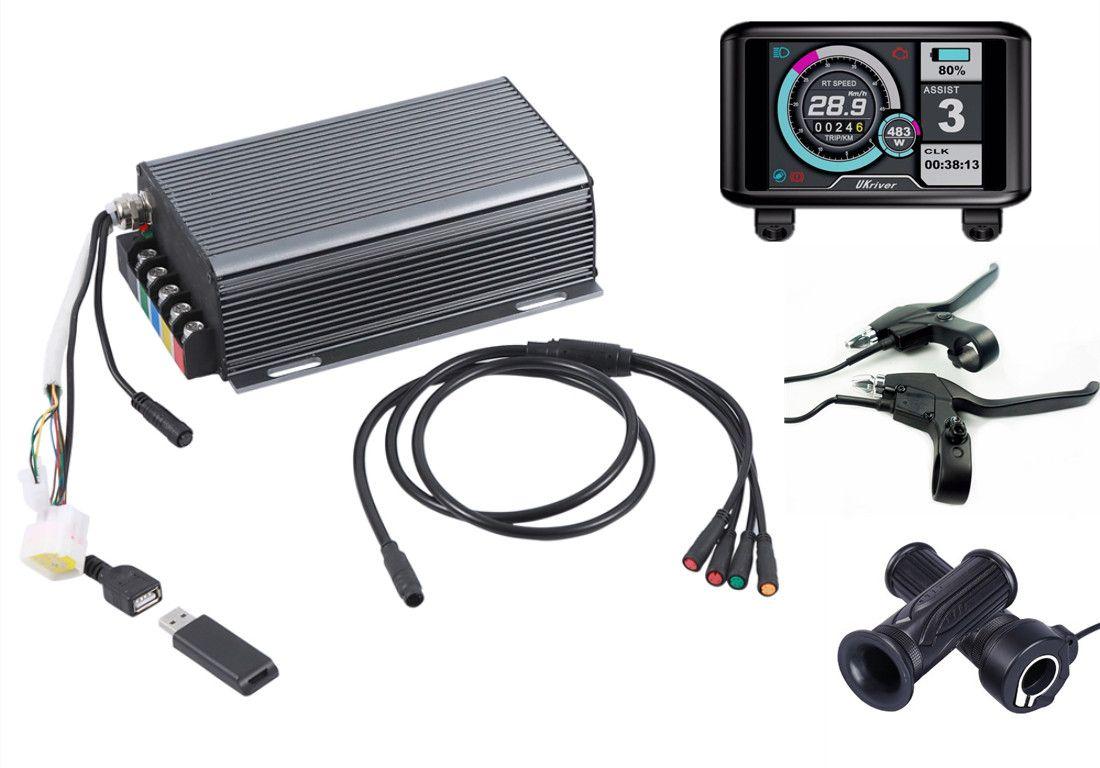 TFT display 36 v-72 v 150a 8000 w motor elektrische bike controller sinus welle system Bluetooth Adapter Enthalten