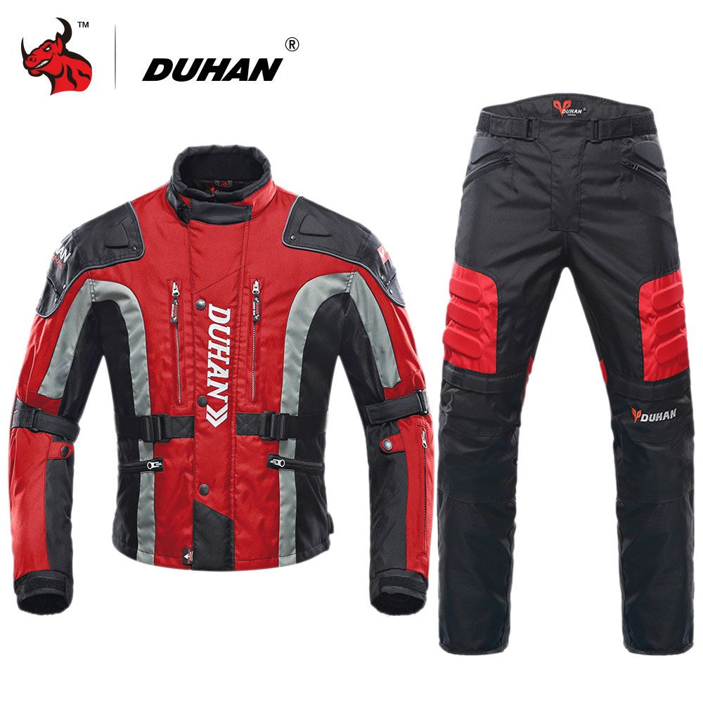 DUHAN Motorcycle Jacket Motocross Equipment Cotton Underwear Cold-proof Moto Jacket Protective Gear Men Motorcycle Clothing