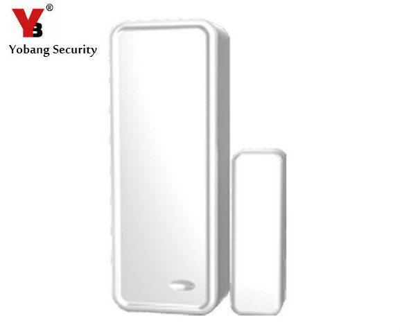 Yobangsecurity 433 мГц Беспроводной Магнитная двери Сенсор детектор дверной контакт обнаружить закрылась дверь открыта для G90B WI-FI GSM сигнализация С...