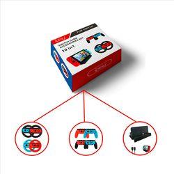 10 En 1 accesorios Set para Nintendo interruptor 4 * rueda Mango para Joy-con agarre 4 * controller Grips Cable tipo C carga r30