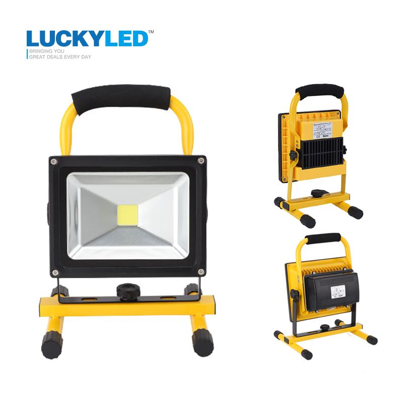 LUCKYLED portable rechargeable led flood light 10W 20W Waterproof IP65 camping lamp outdoor Spotlight Floodlight car charger