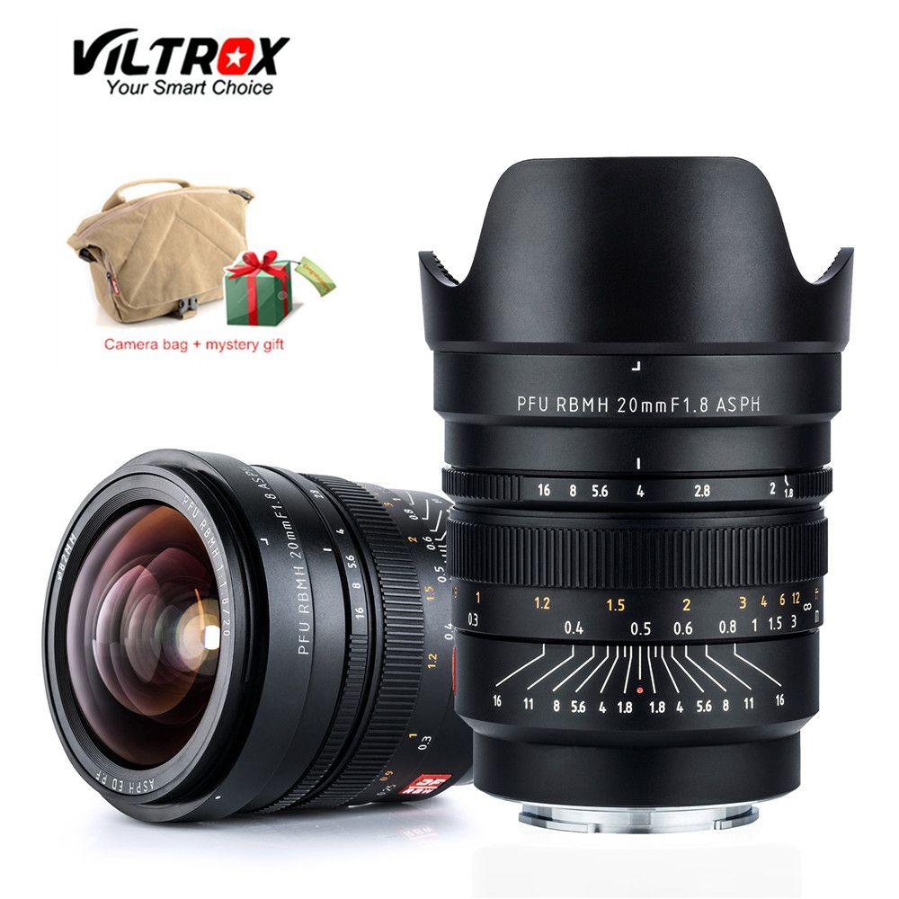 VILTROX 20mm f/1,8 ASPH Volle-Rahmen Weitwinkel-Prime Feste Fokus für Kamera Sony NEX E A9 A7M3 A7R Fujifilm FX-mount