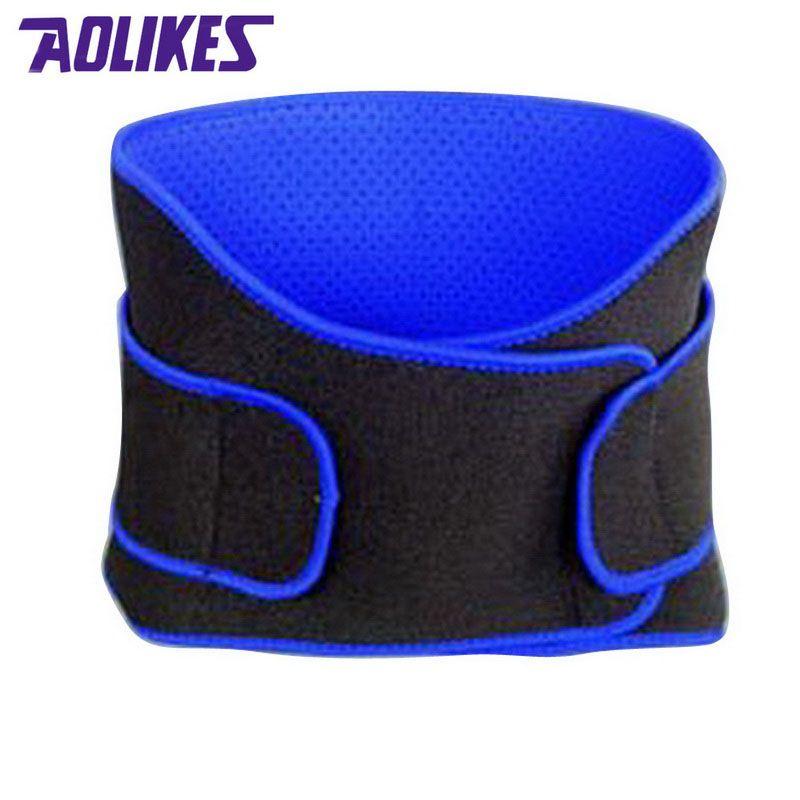 AOLIKES respirant sport pressurisé taille arrière soutien grande taille élastique Fitness musculation attelle ceinture d'haltérophilie