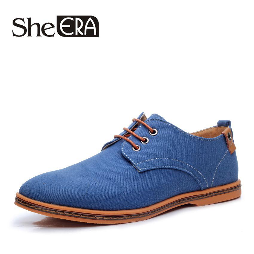 New 2017 Fashion Spring Summer Casual Men Shoes Men Lace-up Flats Breathable Men Canvas Shoes Size 38-48