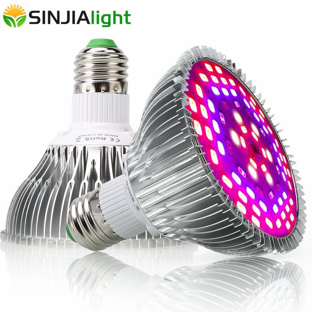 30W 50W 80W 100W LED à spectre complet grandir lumière plante d'intérieur lampe de croissance pour fleurs graines Aquarium cultiver boîte rouge + bleu + UV + IR E27