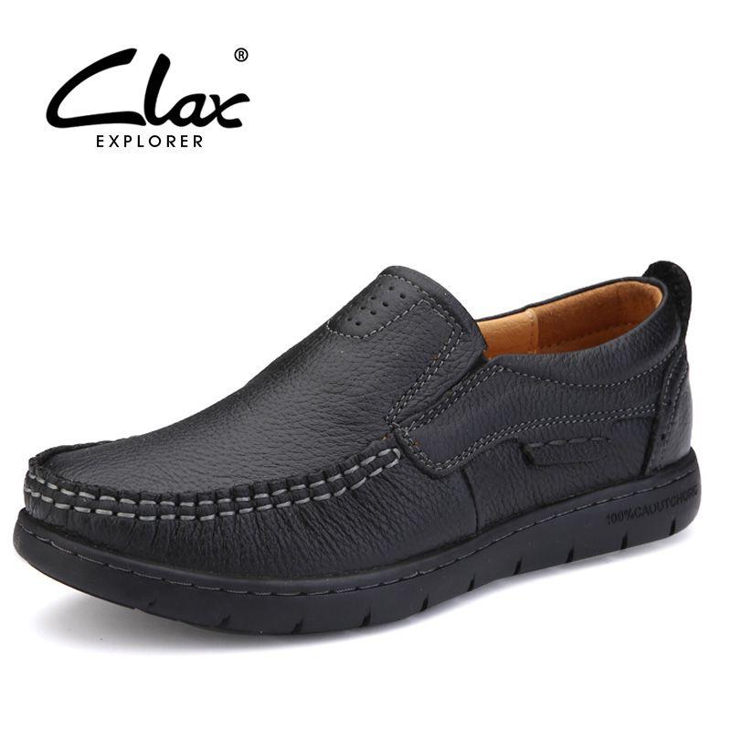 CLAX Antideslizante Zapato de Cuero de Las Mujeres 2017 Del Otoño Del Verano Mocasines de Cuero Genuino de Señora Vintage Retro Casual Zapato Suave Cómodo