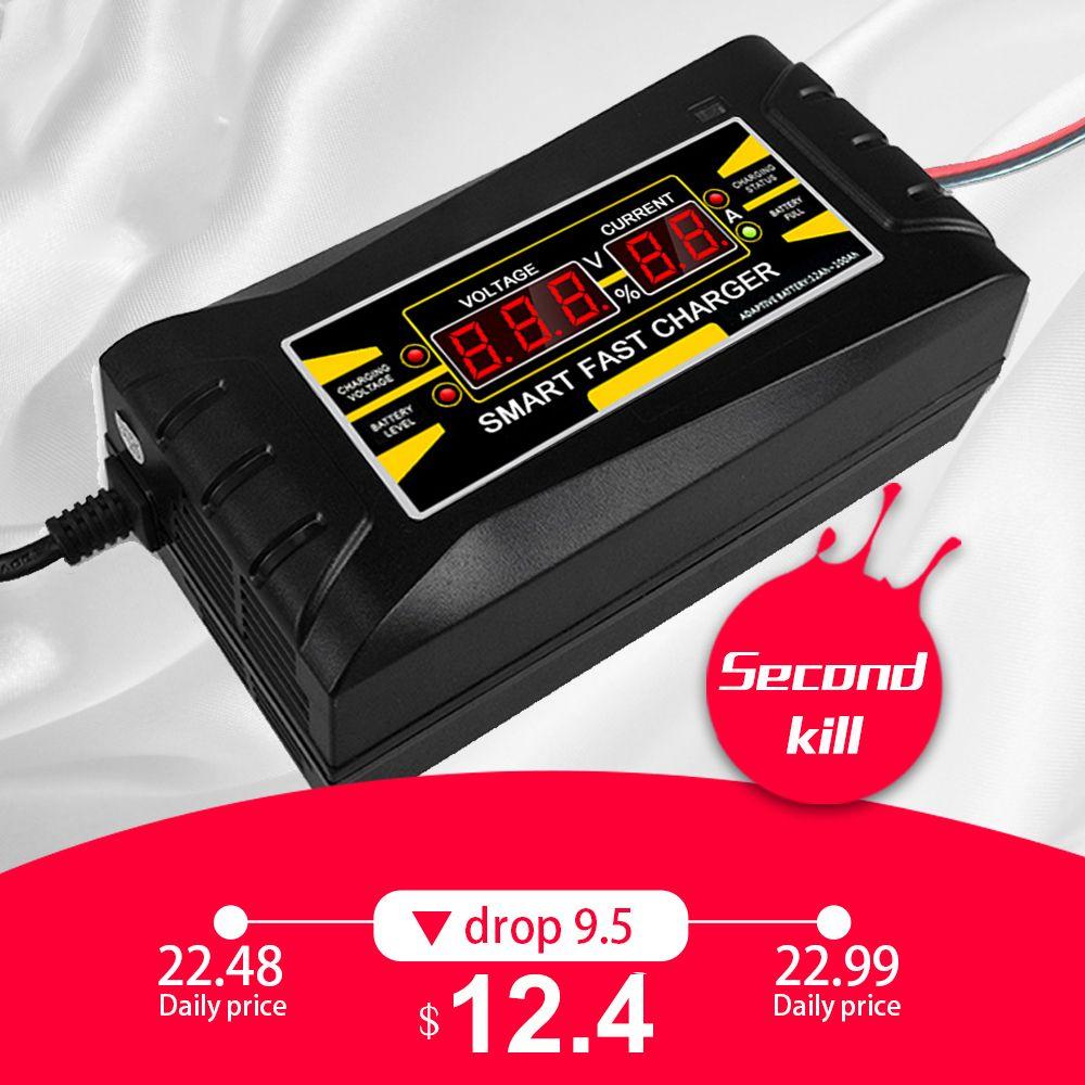 Entièrement Automatique Chargeur De Batterie de Voiture 110 v/220 v À 12 v 6A Intelligent Rapide Puissance De Charge Approprié pour voiture moto Avec L'UE/US Plug