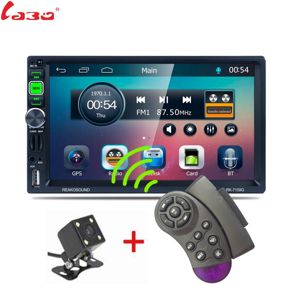 2 DIN 1080P Univeral PK-7159G Car DVD Video Player 12V Touch Screen GPS Navigation With Remote Control Rearview Camera available