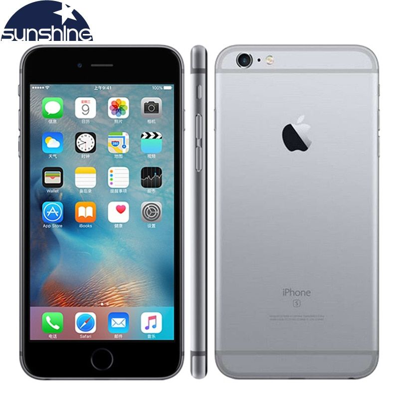 Original Apple iPhone 6S LTE Mobile phone 16/64/128GB ROM 2GB RAM 4.7 inch 12MP Camera Dual Core <font><b>Unlocked</b></font> Cell phone