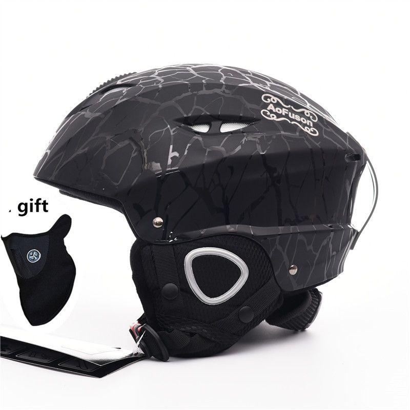 2018 Brand Ski helmet Integrally-molded professional adult Snowboard helmet Men Women Skating/Skateboard Winter sports helmets