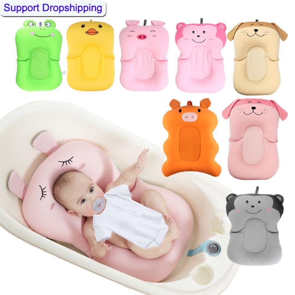 Bébé douche Portable coussin d'air lit bébés bébé bébé coussin de bain antidérapant tapis de baignoire nouveau-né sécurité bain siège Support
