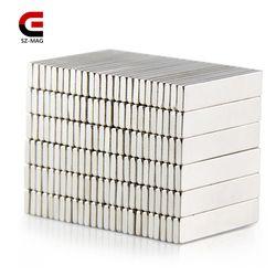 50 piezas 25 piezas 25x5x1,5mm Permanet imán fuerte barra de la tierra rara imanes de neodimio N50 rebanadas