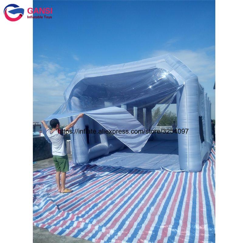 Outdoor aufblasbare lackierkabine 10 mt * 5 mt * 3,5 mt malerei auto zelt auto zimmer tragbare aufblasbare spray stand für auto malerei