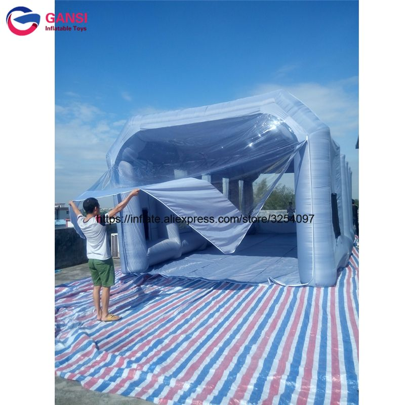 Outdoor inflatable paint booth 10m*5m*3.5m painting car tent car room portable inflatable spray booth for car painting